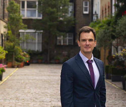 thomas stavrakis IVF posing in London mews